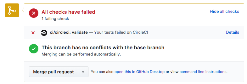 CircleCI build failed for GitHub
