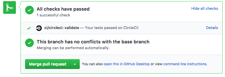 CircleCI build success for GitHub