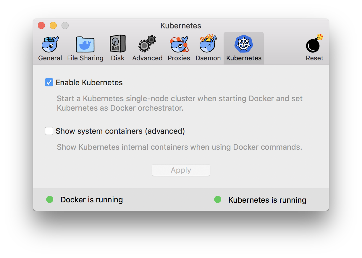 K8s in Docker for Mac