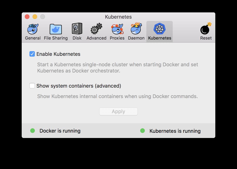 K8s in Docker for Mac